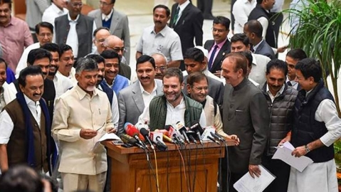 Opposition meet : Our goal is to defeat BJP and protect India's institutions says Rahul Gandhi