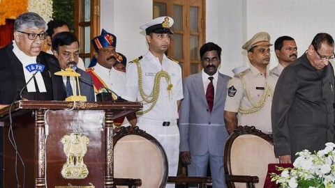 Justice TBN Radhakrishnan sworn in as First Chief Justice of Telangana High Court