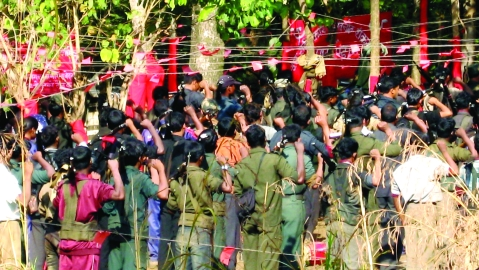 Maoist conference in a forest