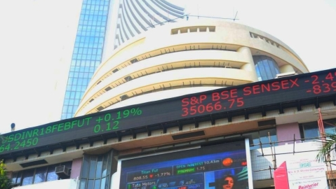 Indian equity indices opens in red on Wednesday, Sensex down over 100 points