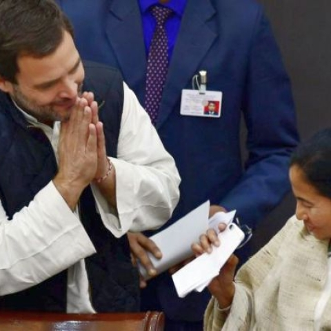 Rahul extends support to Mamata's opposition rally in Kolkata; hopes it sends a message of united India
