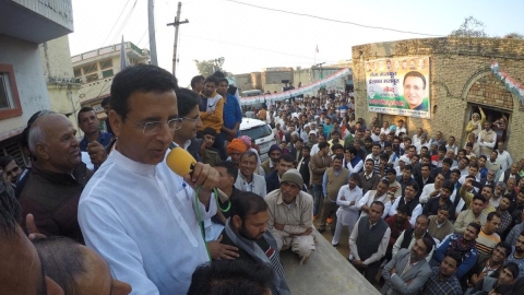 Image result for randeep surjewala bye elections campaign