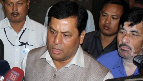 Citizenship (Amendment) Bill: Black flags were waved at Assam Chief Minister Sarbananda Sonowal