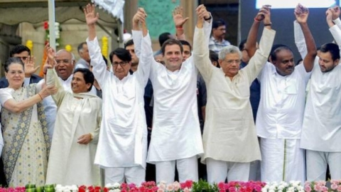 NDA's tally to go down by 86 if elections were held today; UPA's  to increase by 106: opinion poll