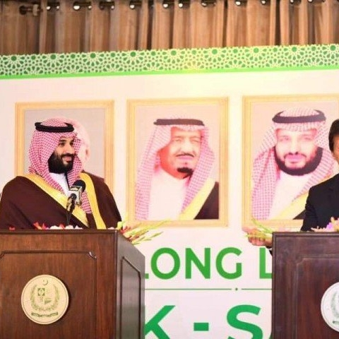 "Want to ""de-escalate tensions"" between Pak and India, says Saudi foreign minister accompanying Salman"