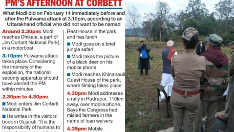 'Prime Time Minister' and '#Photoshootsarkar trend on Twitter as details tumble out of PM's Corbett break