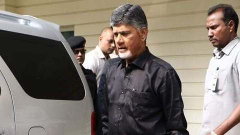 CM Chandrababu Naidu wears black to protest against Centre's failure to grant Andhra special category status