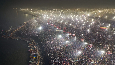 Two-three crore devotees take the holy dip on Mauni Amavasya at Kumbh 2019