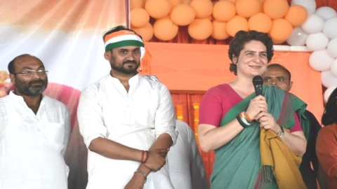Chowkidar synonymous with rich,  think before you vote cautions Priyanka Gandhi