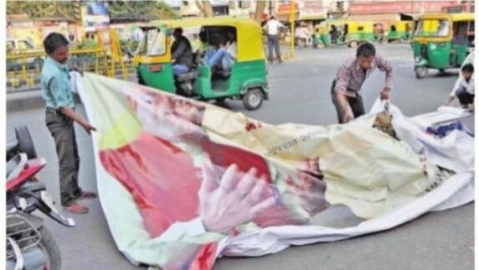 LS polls code: Hoardings carrying pictures of party leaders, govt schemes being removed