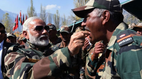 Modi seeking credit of armed forces before Lok Sabha polls: Congress