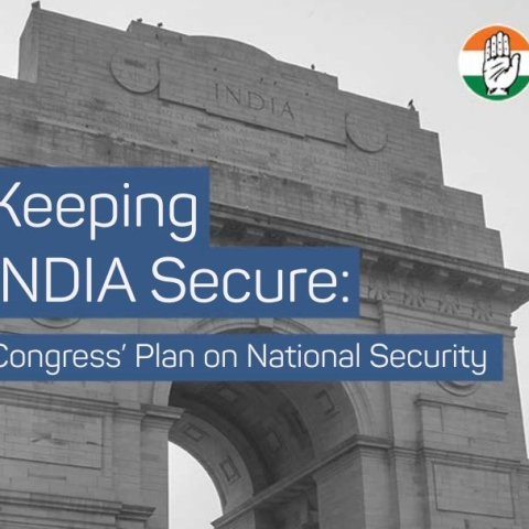 Congress releases plan on national security, emphasises on 'Jan Suraksha'