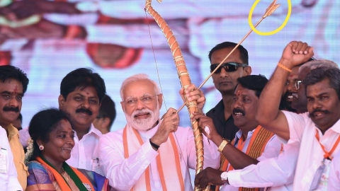 Trending on Social Media:  PM's reverse arrow trick, cartoons on Smriti Irani's degree and pics from rallies