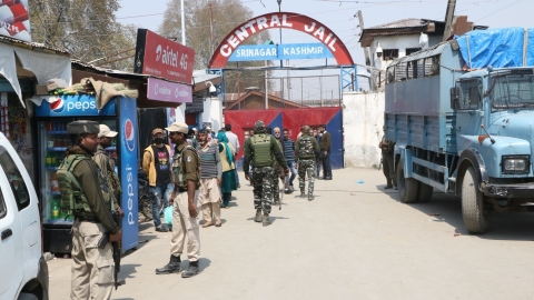 Situation under control in Srinagar Central Jail after angry inmates set fire to a temporary shelter
