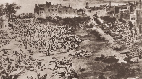 A scene of the Jallianwala Bagh massacre, Amritsar, 1919 (Hindustan Times)