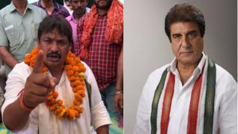 BSP leader Guddu Pandit booked for abusing Raj Babbar