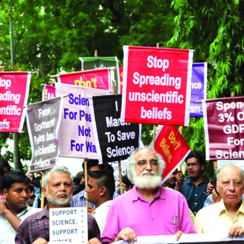 Scientists take part in the 'India March for Science' on August