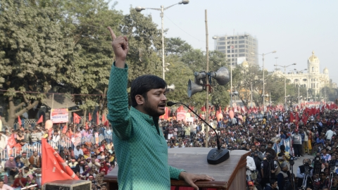 Kanhaiya  makes BJP, Giriraj sweat but faces uphill task in Begusarai