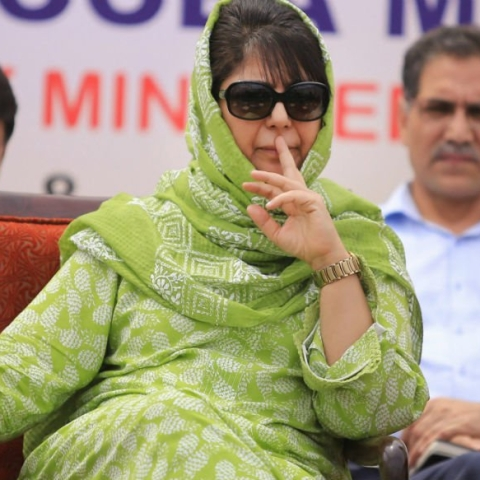 PDP Chief Mehbooba Mufti (Photo courtesy: Twitter)