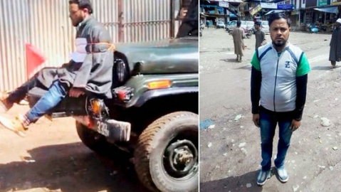 Farooq Dar, used as 'human shield' last time Kashmir voted to elect MP,  now on poll duty