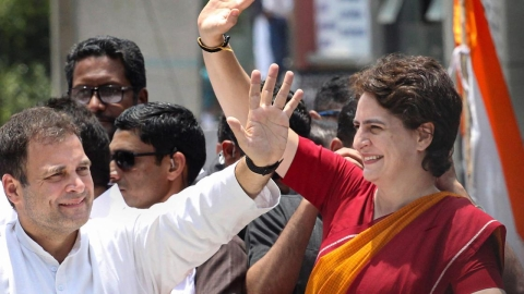 Rahul Gandhi along with her sister Priyanka Gandhi held a road show in Wayanad after filing his nomination as an United Democratic Front (UDF) candidate on April 4. Rahul Gandhi made it clear that his fight is against the NDA, not Left in Kerala