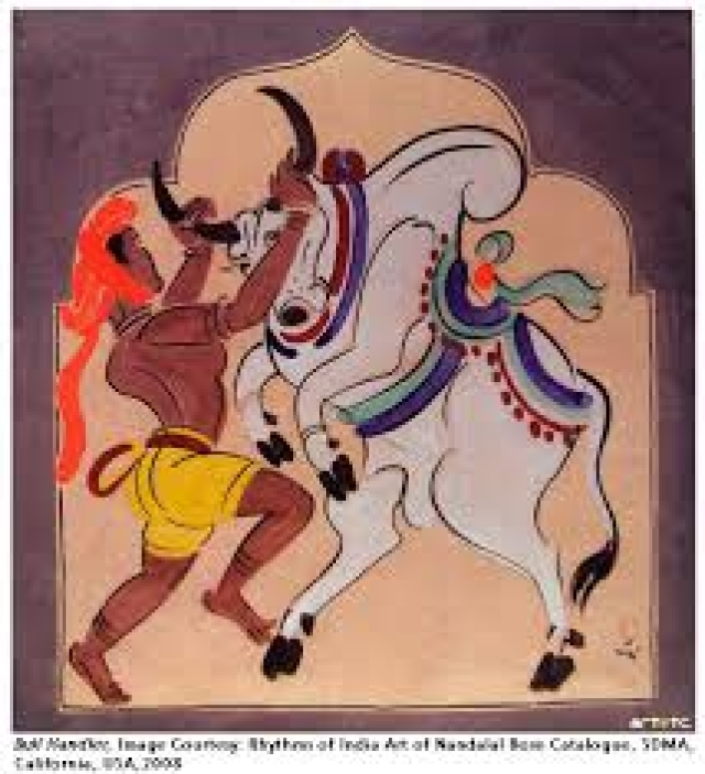 Nandalal Bose's Haripura Congress  paintings to visit Venice Biennale
