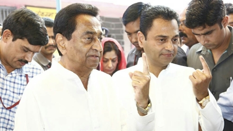 Madhya Pradesh: Kamal Nath, son leading; all other heavyweights trailing
