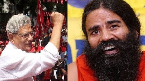 Ramdev lodges complaint against Sitaram Yechury for 'hurting Hindu sentiments'