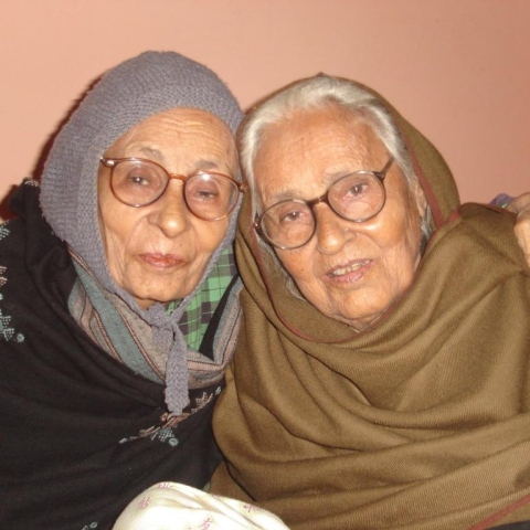 Kaneez Wizarat (left) and Masoom Fatima (right), the sisters who stood up to challenges