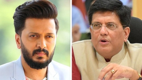 Riteish points out Piyush Goyal's untrue statement says it's wrong to accuse someone who can't defend himself
