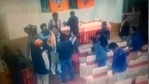 WATCH| CCTV clip emerges showing BJP MP bribing reporters, BJP denies allegations
