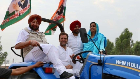 In Punjab it's Congress da Captain who has the  upper hand