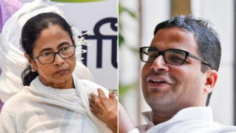 Poll strategist Prashant Kishor and West Bengal Chief Minister Mamata Banerjee