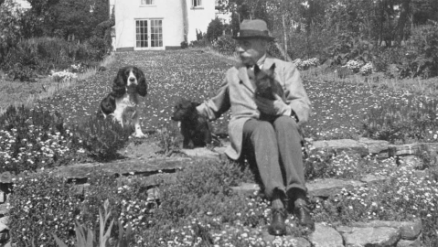 Edward Elgar with his beloved dogs
