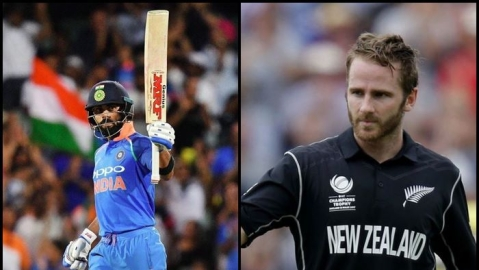 Indian Skipper Virat Kohli and New Zealand Captain Kane Williamson (social media)