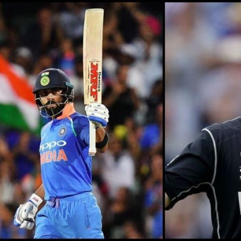 Indian Skipper Virat Kohli and New Zealand cricketer Kane Williamson (social media)
