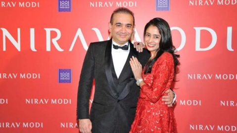 Nirav Modi and his sister Purvi Modi