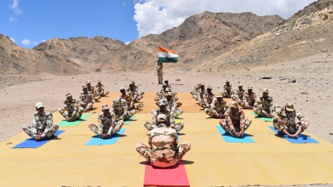 A look at the International Yoga Day celebrations around the country
