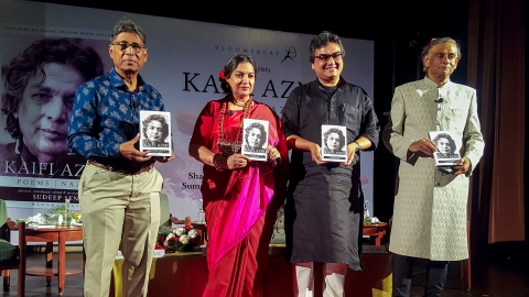 Kaifi Azmi's poetry collection launched in Hindi and English as part of his birth centennial celebrations