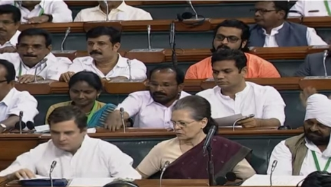 Congress MPs in Parliament
