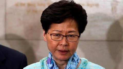 Hong Kong leader condemns 'extremely violent' protests