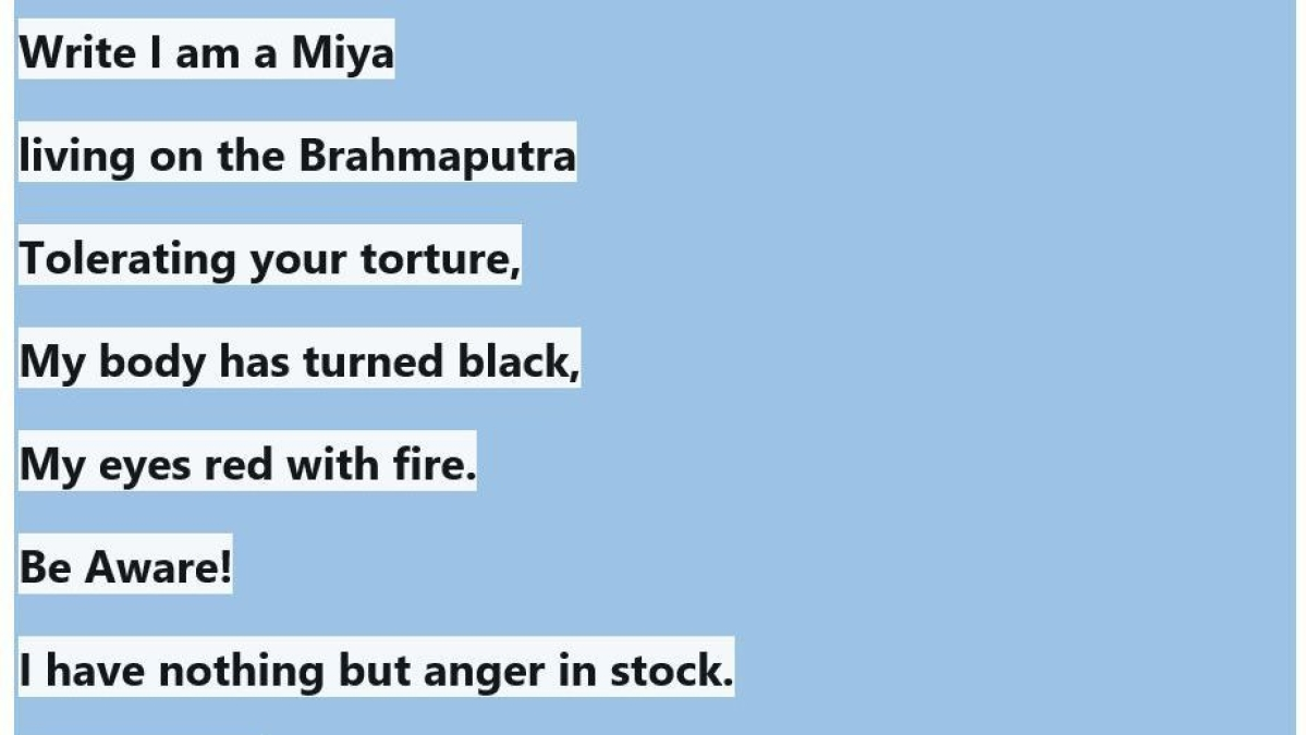 One poem,10 accused: Writing poetry not a solution, says FIR against 'Miyah Poetry' in Assam