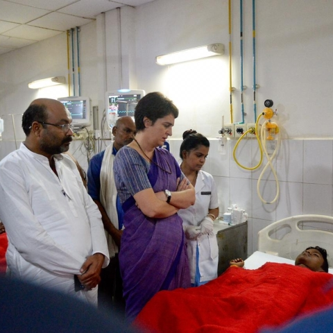 LIVE news updates: Priyanka Gandhi meets people injured in firing in Sonbhadra over land dispute