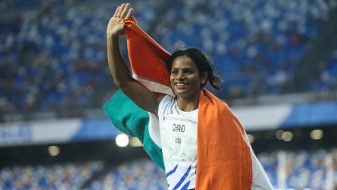 """You make India proud"" as Dutee sprints to gold in Naples"