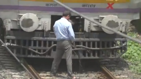 WATCH | Motorman stops local train midway to urinate