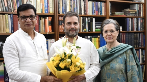 New Maha Cong chief Thorat calls on Sonia Gandhi, Rahul Gandhi