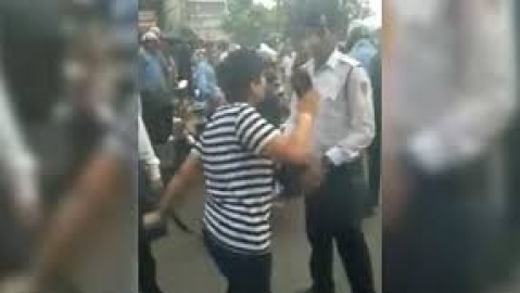 WATCH: Stopped for violating traffic rules, a Delhi woman throws a fit