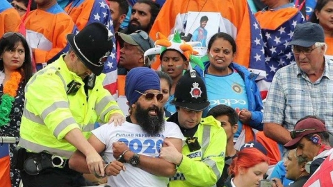 ICC expels fans propagating political message in India-New Zealand semifinal