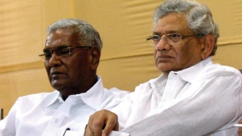 Sitaram Yechury and D Raja detained at Srinagar airport