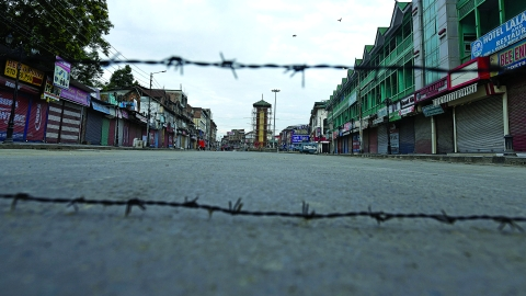 practically every square inch of Kashmir is covered with defence personnel — things are certainly looking up for the barbed wire industry.